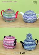 Sirdar Home Tea Cosies Crofter Knitting Pattern 7708  DK