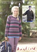 Sirdar Mens & Ladies Sweaters Colour Rich Knitting Pattern 7712  Chunky