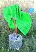 Hayfield Home Basket Cover & Throw Bonus Knitting Pattern 7730  Aran