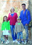 Hayfield Family Cardigans Bonus Knitting Pattern 7731  Aran