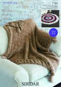Sirdar Home Round & Square Throws Touch Fur Knitting Pattern 7784
