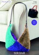 Sirdar Ladies Bags Touch Fur Knitting Pattern 7785