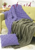 Hayfield Home Blankets Knitting Pattern 7792  Aran