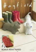 Hayfield Home Door Stop, Draught Excluder & Hot Water Bottle Cover Knitting Pattern 7793  Aran