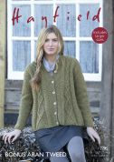 Hayfield Ladies Swing Coat Knitting Pattern 7795  Aran