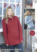 Hayfield Ladies Sweater & Sweater Dress Knitting Pattern 7796  Aran