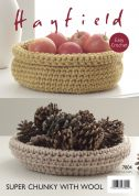 Hayfield Home Cat Nest & Baskets With Wool Crochet Pattern 7804  Super Chunky