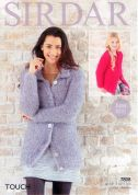 Sirdar Ladies & Girls Cardigans Touch Knitting Pattern 7808