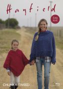 Hayfield Ladies & Girls Ponchos Tweed Knitting Pattern 7812  Chunky