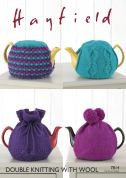 Hayfield Home Tea Cosies With Wool Knitting Pattern 7814  DK