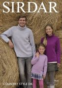 Sirdar Family Sweaters Country Style Knitting Pattern 7825  DK