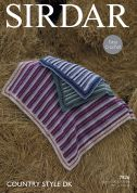 Sirdar Home Blankets Country Style Crochet Pattern 7826  DK