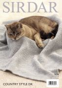 Sirdar Fish Pattern & Garter Stitch Cat Blankets Country Style Knitting Pattern 7828  DK