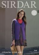 Sirdar Ladies Waistcoat Country Style Knitting Pattern 7838  4 Ply