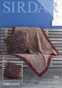 Sirdar Home Cushion Cover & Throw Blanket Caboodle Knitting Pattern 7840  Chunky