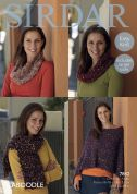 Sirdar Ladies Poncho, Snood & Scarf Caboodle Knitting Pattern 7842  Chunky