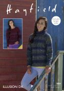 Hayfield Ladies Sweaters Illusion Knitting Pattern 7858  DK