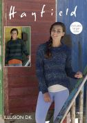 Hayfield Ladies Sweaters Illusion Knitting Pattern 7859  DK