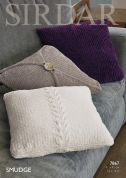 Sirdar Home Cushion Covers Smudge Knitting Pattern 7867  Chunky