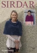 Sirdar Ladies & Girls Capes Plushtweed Knitting Pattern 7875  Chunky