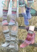 Sirdar Childrens & Adults Sock Aura Knitting Pattern 7879  Chunky