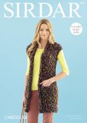 Sirdar Ladies Waistcoat Caboodle Knitting Pattern 7892  Chunky