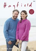 Hayfield Mens & Ladies Sweaters Knitting Pattern 7898  Aran