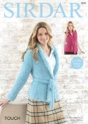 Sirdar Ladies Jacket & Waistcoat Touch Knitting Pattern 7919