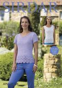 Sirdar Ladies Tops Amalfi Knitting Pattern 7927  DK