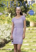 Sirdar Ladies Dress Amalfi Crochet Pattern 7928  DK