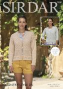 Sirdar Ladies Jackets Country Style Knitting Pattern 7938  DK