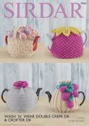 Sirdar Home Tea Cosies Wash 'n' Wear & Crofter Knitting Pattern 7941  DK