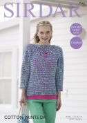 Sirdar Ladies Top Cotton Crochet Pattern 7944  DK