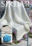Sirdar Home Rug, Tea Cosy & Throw Blanket Gorgeous Ultra Knitting Pattern 7963  Super Chunky