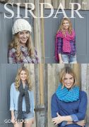 Sirdar Ladies Hats & Scarves Gorgeous Ultra Knitting Pattern 7964  Super Chunky