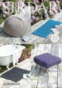 Sirdar Home Footstools & Rugs Gorgeous Ultra Knitting Pattern 7965  Super Chunky