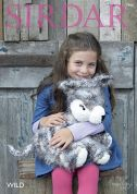 Sirdar Husky Cuddly Toy Wild Knitting Pattern 7966