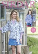 Sirdar Ladies & Girls Kimono Jackets Wild Knitting Pattern 7968