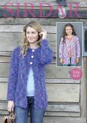 Sirdar Ladies & Girls Cardigans Wild Knitting Pattern 7970