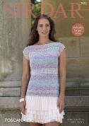Sirdar Ladies Top Toscana Knitting Pattern 7972  DK