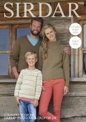 Sirdar Family Sweaters Country Style, Harrap Tweed & Crofter Knitting Pattern 7978  DK