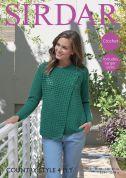 Sirdar Ladies Jacket Country Style Crochet Pattern 7994  4 Ply