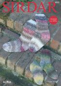 Sirdar Ladies & Girls Socks Aura Knitting Pattern 8003  Chunky
