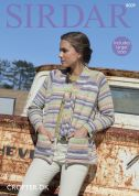 Sirdar Ladies Jacket Crofter Knitting Pattern 8009  DK