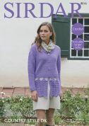 Sirdar Ladies Jacket Country Style Crochet Pattern 8016  DK