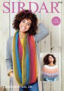 Sirdar Ladies Poncho & Snood Colourwheel Crochet Pattern 8028  DK