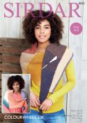 Sirdar Ladies Wraps Colourwheel Knitting Pattern 8033  DK