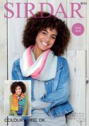 Sirdar Ladies Snood & Scarf Colourwheel Knitting Pattern 8034  DK