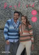 Hayfield Ladies & Mens Sweaters Spirit Knitting Pattern 8037  DK