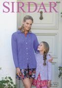 Sirdar Ladies & Girls Jackets No.1 Knitting Pattern 8045  DK